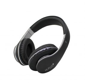 HI-PLUS H211F Wireless Over Ear Headset with Stereo Bass Sound (Black)