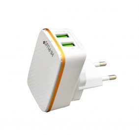 HI-PLUS H223C USB Wall Charger with 2.4A Output (White)