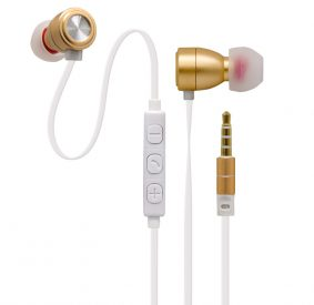 HI-PLUS H900i Metal Headset In-Ear Stereo Wired Universal Earphone (Golden)