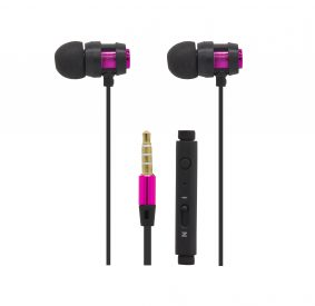 HI-PLUS H105F Stereo Handsfree with Mic (Pink)