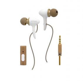 HI-PLUS H108F In-Ear Headphone With Mic Headset with Mic (Grey, Gold, In the Ear)