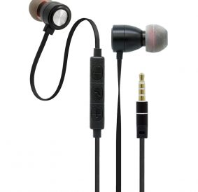 HI-PLUS H900i Metal Headset In-Ear Stereo Wired Universal Earphone (Black)