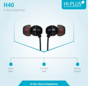 HI-PLUS H40 High Quality Stereo Earphones with Mic