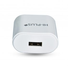 HI-PLUS Fast USB Charger Adapter with Cable in White Color, 2.4 A