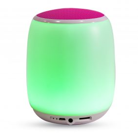 HI-PLUS Portable Wireless Speaker with 4 Watt Touch Lamp