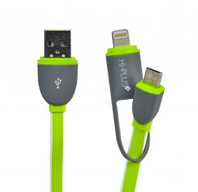 HI-PLUS Lightning Fast 2 in 1 Data Cable for iPhone and Android
