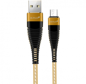 HI-PLUS 2.4 AMP 1M FAST CHARGING USB DATA CABLE