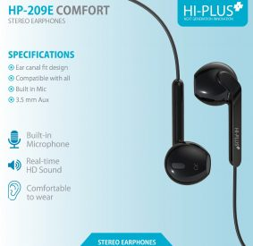 HP-209E COMFORT EARPHONE